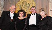 Jefferson Awards 2008: (left to right)  Sam Beard, President and Founder,  Jefferson Awards for Public Service; Professor Mary King; her husband Dr Peter G Bourne; Nancy Leonard, National Director, Jefferson Awards for Public Service